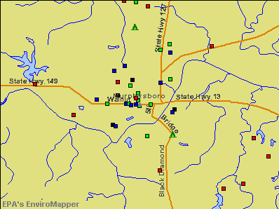 Murphysboro, Illinois environmental map by EPA