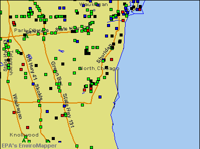 North Chicago, Illinois environmental map by EPA