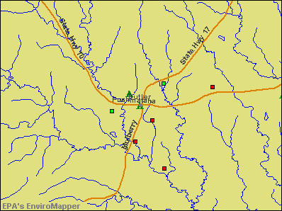 Butler, Alabama environmental map by EPA