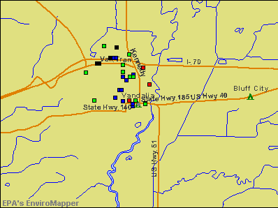 Vandalia, Illinois environmental map by EPA