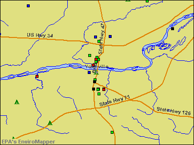 Yorkville, Illinois environmental map by EPA