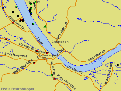Cannelton, Indiana environmental map by EPA