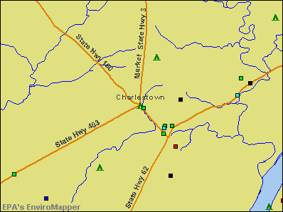 Charlestown, Indiana environmental map by EPA