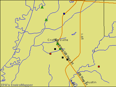 Crothersville, Indiana environmental map by EPA
