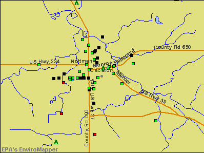 Decatur, Indiana environmental map by EPA