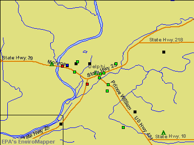 Delphi, Indiana environmental map by EPA