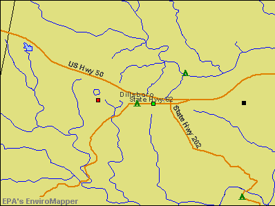 Dillsboro, Indiana environmental map by EPA