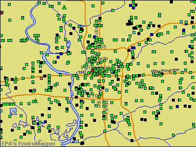 Indianapolis, Indiana environmental map by EPA