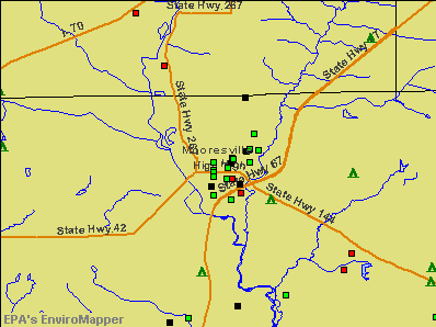 Mooresville, Indiana environmental map by EPA