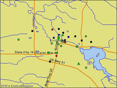 Rochester, Indiana environmental map by EPA
