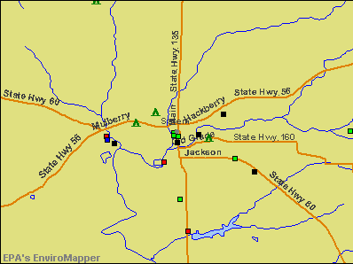 Salem, Indiana environmental map by EPA