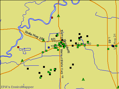 Seymour, Indiana environmental map by EPA