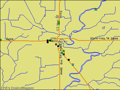 Winamac, Indiana environmental map by EPA