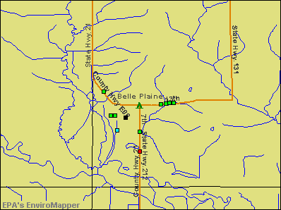 Belle Plaine, Iowa environmental map by EPA
