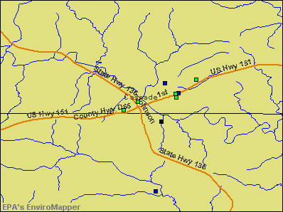 Cascade, Iowa environmental map by EPA
