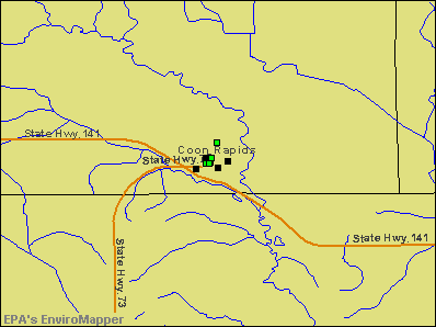 Coon Rapids, Iowa environmental map by EPA