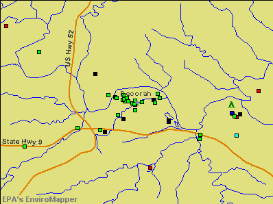 Decorah, Iowa environmental map by EPA