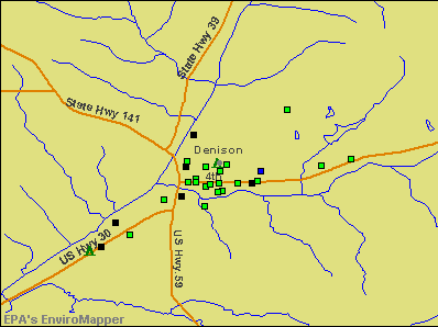 Denison, Iowa environmental map by EPA