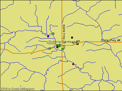 Guthrie Center, Iowa environmental map by EPA