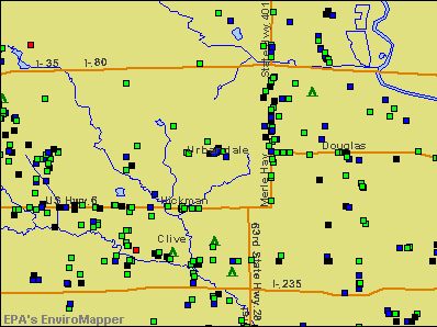 Urbandale, Iowa environmental map by EPA