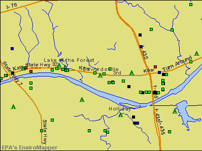 Edwardsville, Kansas environmental map by EPA