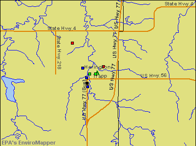 Herington, Kansas environmental map by EPA