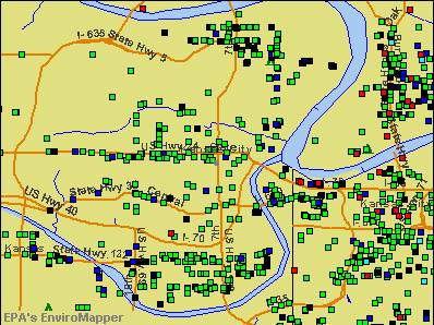Kansas City, Kansas environmental map by EPA
