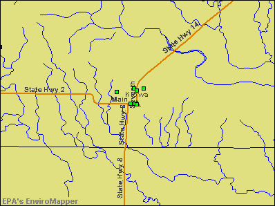 Kiowa, Kansas environmental map by EPA