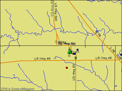 Oakley, Kansas environmental map by EPA