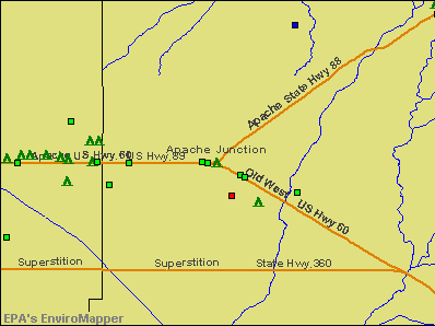 Apache Junction, Arizona environmental map by EPA