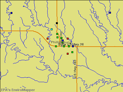 Phillipsburg, Kansas environmental map by EPA