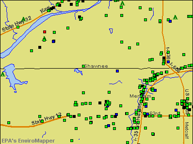 Shawnee, Kansas environmental map by EPA