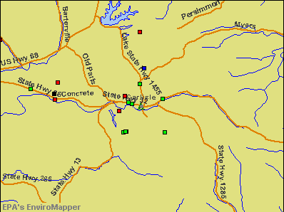 Carlisle, Kentucky environmental map by EPA