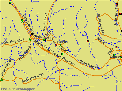 Clay, Kentucky environmental map by EPA