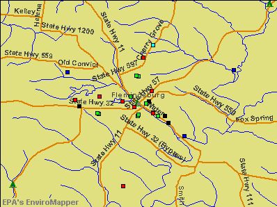 Flemingsburg, Kentucky environmental map by EPA