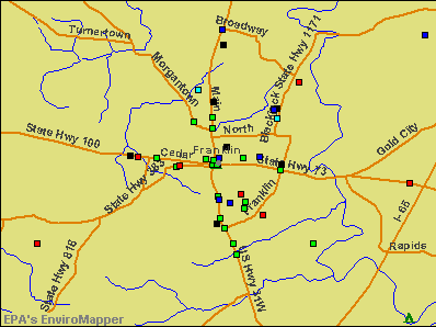 Franklin, Kentucky environmental map by EPA