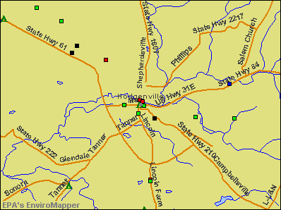 Hodgenville, Kentucky environmental map by EPA