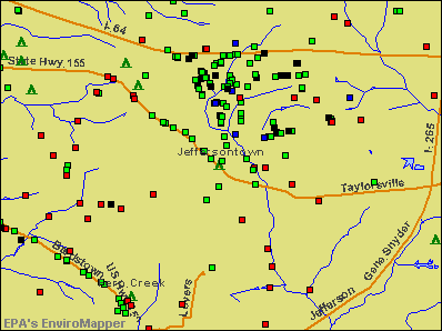 Jeffersontown, Kentucky environmental map by EPA