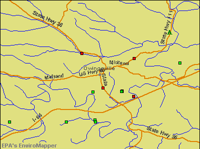 Owingsville, Kentucky environmental map by EPA