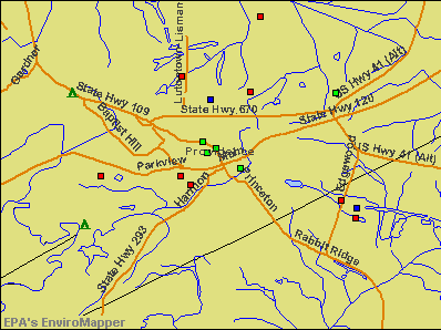 Providence, Kentucky environmental map by EPA