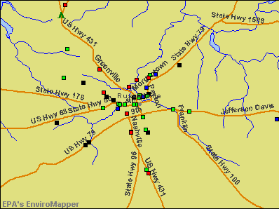 Russellville, Kentucky environmental map by EPA