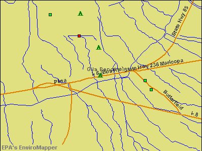 Gila Bend, Arizona environmental map by EPA
