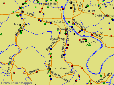 Taylor Mill, Kentucky environmental map by EPA