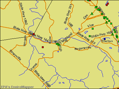 Vine Grove, Kentucky environmental map by EPA