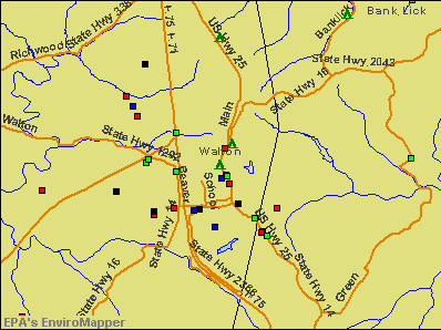 Walton, Kentucky environmental map by EPA