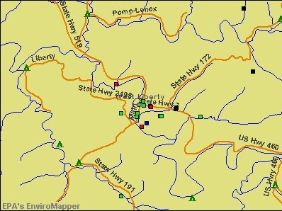 West Liberty, Kentucky environmental map by EPA