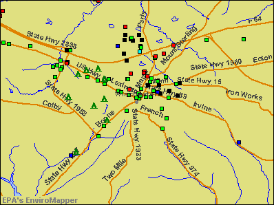 Winchester, Kentucky environmental map by EPA