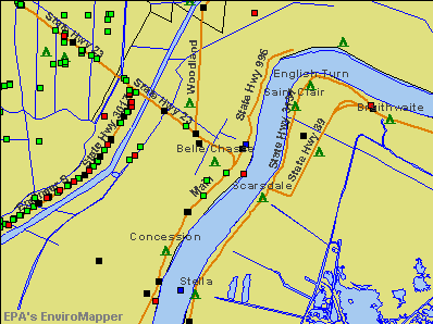 Belle Chasse, Louisiana environmental map by EPA