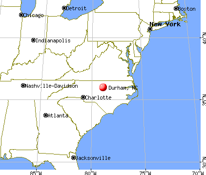 Durham, North Carolina map