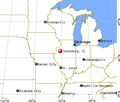Galesburg, Illinois map